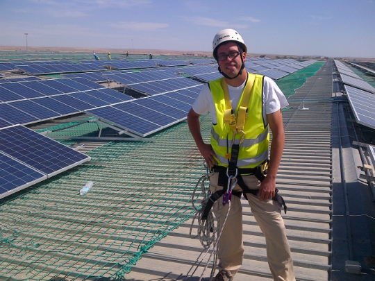 David Calvo, ingeniero de proyectos Krannich Solar