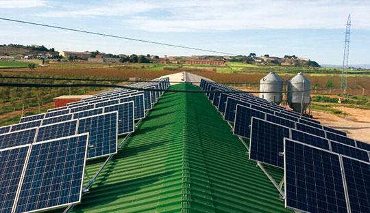 Instalación fotovoltaica con grupos electrógenos