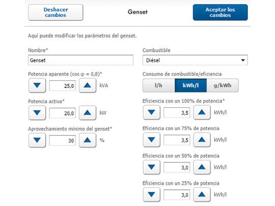 PV diesel: características del generador